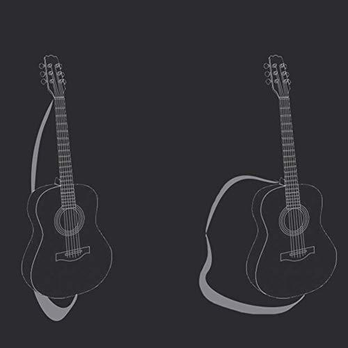 Zjcpow 38 '' Guitarra acústica, 6 Alambre Str Superficie Lisa Voz Alta Easy Play con sintonizador electrónico Principiante Cutaway, 9 Colores (Color: Negro, tamaño: 96cm) xuwuhz