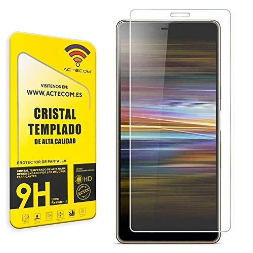 actecom® Protector de Pantalla Sony Xperia L3 Cristal Templado Sony Xperia L3 Vidrio 9H Premium Cristal Sony Xperia L3