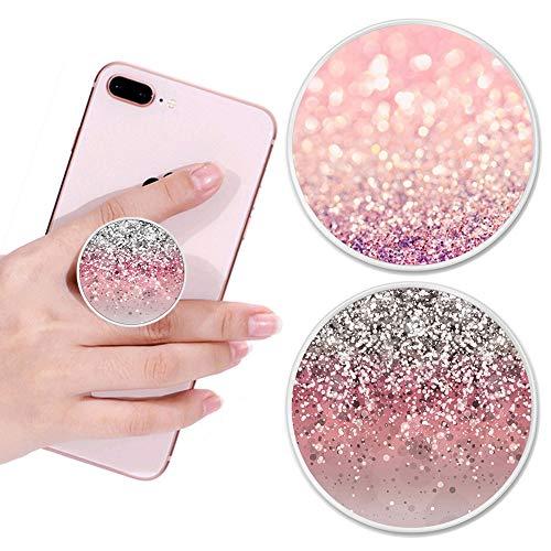 AESTBU 2 Piezas de Agarres/Soportes Expansibles para Teléfonos Móviles y Tabletas - Mármol Rosa