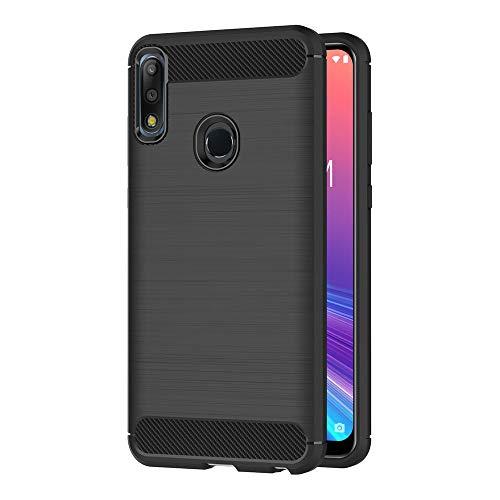 AICEK Funda ASUS Zenfone MAX Pro (M2), Negro Silicona Fundas para ASUS Zenfone MAX Pro ZB631KL Carcasa ASUS Zenfone MAX Pro (M2) Fibra de Carbono Funda Case (6,26 Pulgadas)