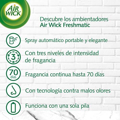 Air Wick Freshmatic - Recambios de ambientador spray automático, esencia para casa con aroma a Lirio de Luna y Satén de Seda - pack de 6