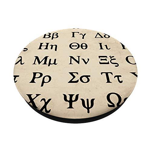 Alfabeto Griego Letras Idioma Regalo Símbolos Antigua Grecia PopSockets Agarre y Soporte para Teléfonos y Tabletas