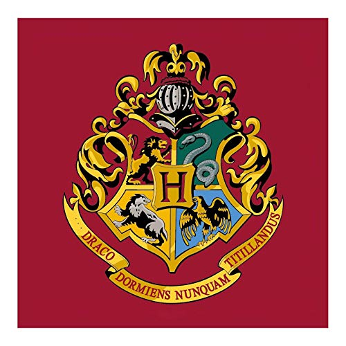 Alfombra cuadrada de Harry Potter con emblema de Hogwarts