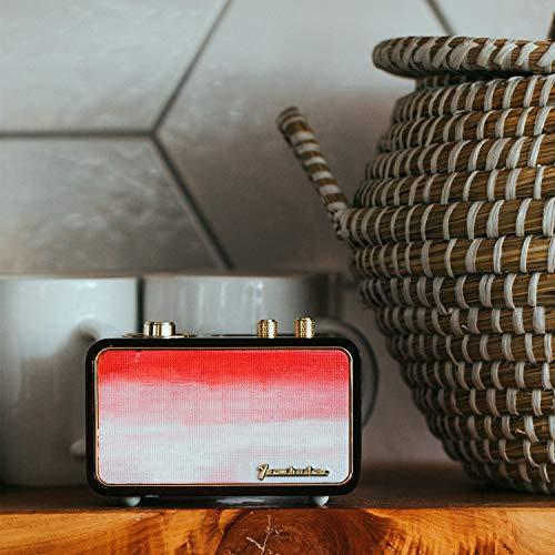 Altavoz Bluetooth retro, radio vintage para el hogar, interior de madera, estilo vintage, altavoz portátil recargable, recuerdo de Navidad personalizable para el padre anciano, 2500 mAh, micrófono