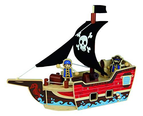 Andreu Toys Qpack Barco Pirata, Multicolor, 37 x 10 x 35 cm (Toys Service S.L ZN15302)