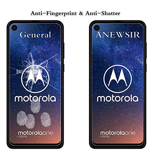 ANEWSIR Protector Pantalla Motorola One Vision/Motorola One Action, Cristal Templado Motorola One Vision, Vidrio Templado Protector de Pantalla con [9H Dureza] para Motorola One Vision [2-Pack]
