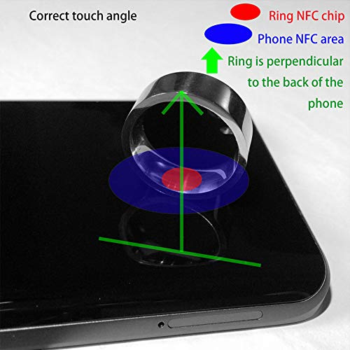 Anillos de los Hombres, la función NFC Realización de Fibra Electronic Data Sharing Timbre Inteligente usable de envío de Mensajes de teléfono aplicación de Bloqueo Carbono Azul para Windows,9