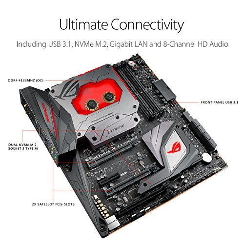 ASUS ROG Maximus IX Extreme Intel® Z270 LGA 1151 (Zócalo H4) ATX extendida - Placa Base (DDR4-SDRAM, DIMM, 2400,2666,3400,3466,3500,3600,3733,3800,3866,4000,4133 MHz, Dual, 64 GB, Intel)