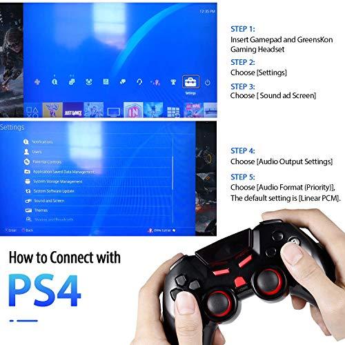Auriculares Cascos Gaming de Mac Estéreo con Micrófono Juego Gaming Headset con 3.5mm Jack Luz LED Bajo Ruido Compatible con PC Xbox One, PS4,Móvil (G2000-Segunda Generación)