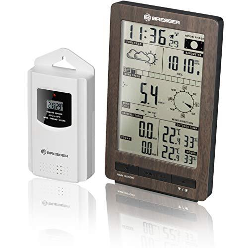 Bresser 7002410 - Estación meteorológica con Sensor Exterior, Aspecto de Madera