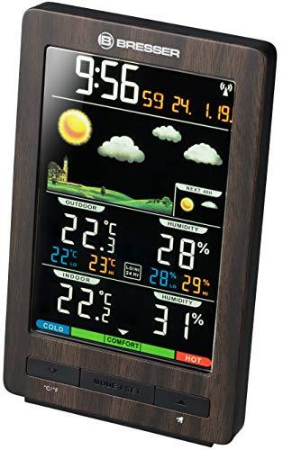 Bresser 7007320 - Estación meteorológica con Sensor Exterior, Aspecto de Madera