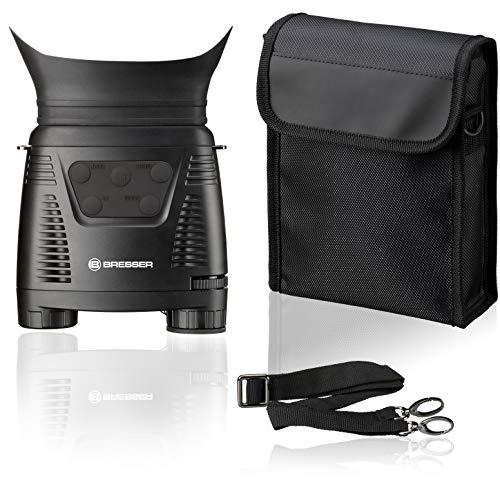 Bresser - Dispositivo de visión Nocturna Digital NV Binocular 3X con función de grabación monocromática
