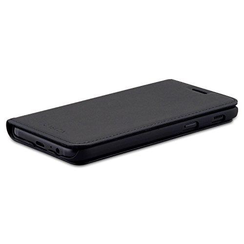 "CASEZA Samsung Galaxy A5 2017 Funda Negro Tipo Libro Piel PU Case Cover Carcasa Plegable Cartera Oslo Piel Vegana Premium para Galaxy A5 2017 (5.2"") Original - Ultrafina con Cierre Magnético"