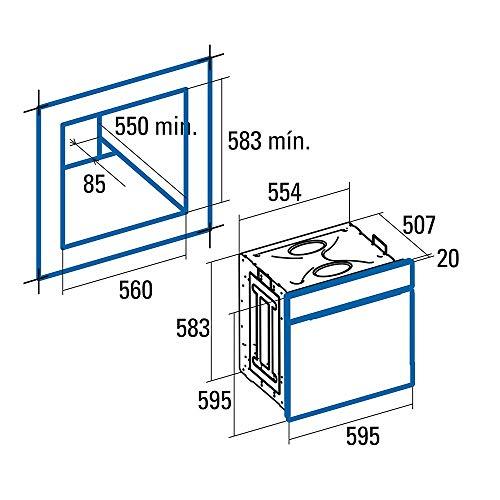 CATA  |  Horno Multifunción Digital - 6 funciones  |  Horno Modelo MD 6106 X  |  Capacidad Interior de 60 litros  |  Limpieza AquaSmart  | Inox |  Clasificación energética A