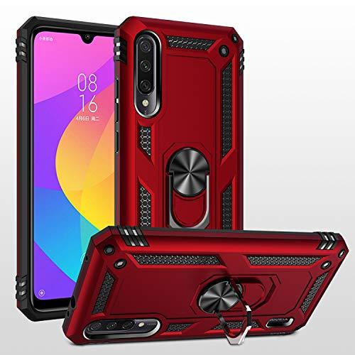 Dedux Funda Xiaomi Mi A3 [Tough Armor Series] Robusta Anti-Arañazos Panel Trasero PC + TPU a Prueba de choques + Soporte Plegable. Azul Marino