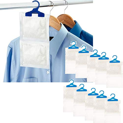 Deshumidificadores colgantes interiores ayudan a detener la humedad, el moho y la condensación, absorbe hasta 3 veces su propio peso en agua, de LIVIVO