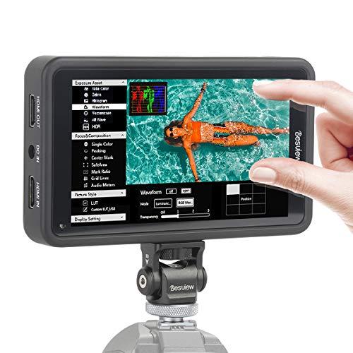 Desview R5 Monitor DSLR 5.5 Pulgadas 4K HDMI con Pantalla Táctil 450nits, Monitor de Campo 1920 * 1080 Full HD con 3D LUTs/HDR, Monitor Refléx Compatible para Canon, Nikon, Sony, Panasonic