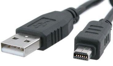 DragonTrading® Cargador de batería para cámara digital y transferencia de fotos, cable USB, Olympus SZ-12/SZ-14/SZ-20