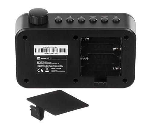 Dual IR 11 - Radio por Internet WiFi con Pantalla a Color (Wi-Fi, transmisión de Audio UPnP, búsqueda automática de Red, Despertador, Funcionamiento de Red), Color Negro
