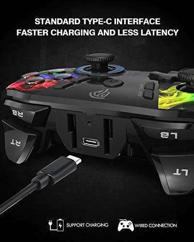 EasySMX - Mando PC/PS3 inalámbrico recargable, 9101 2.4G mando PC