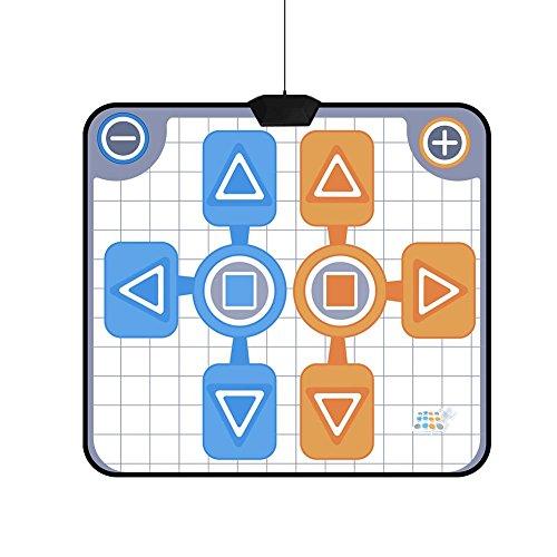 Estera de Baile para Nintendo Wii, Antideslizante para Dos Personas Dance Dance Revolution Dance Pad para el Juego de Consola Nintendo Wii