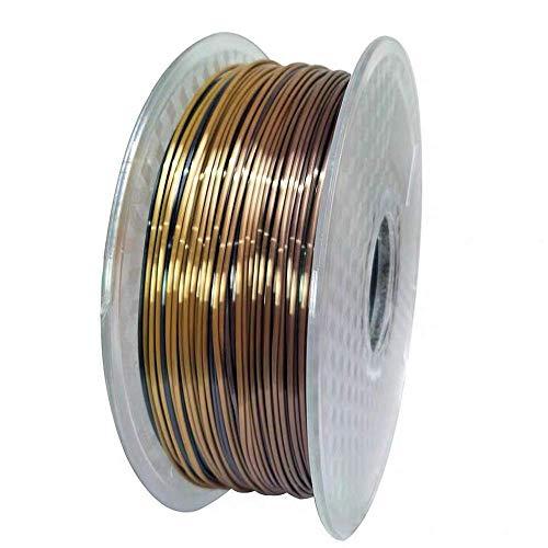 Fasmov Silk Rainbow Filamento de impresora 3D multicolor PLA 1.75 mm 1 kg (2.2 libras)