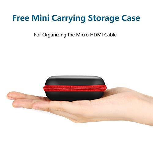 FOINNEX Cable HDMI Micro HDMI Flexible & Delgado 1 Metros, Cable Micro HDMI a HDMI Normal Ultra Thin para Gimbal, GoPro Hero, Canon Camera, Soportes Ultra HD 4K@60Hz, 2K, 3D, Ethernet, ARC, HDR