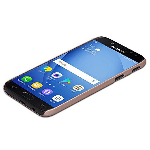 """Funda Galaxy J3 Rosa Oro CASEZA Rio Carcasa Trasera Ultrafina con Acabado Goma Mate - Excelente Funda Rígida Protectora - Aspecto y Tacto de Calidad para Samsung Galaxy J3 2017 DUOS (5.0"""") Original"""