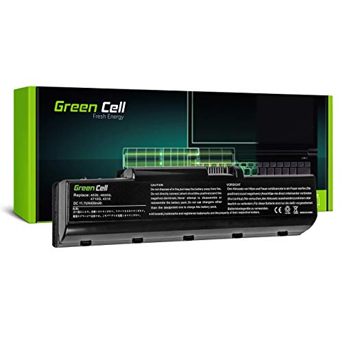Green Cell Batería para Acer Aspire 5738Z-433G32 5738Z-4372 5738Z-4574 5738Z-4853 5738ZG 5738ZG-2 5738ZG-422G25N 5738ZG-423G25MN 5738ZG-424G32N 5738ZG-434G50MN Portátil (4400mAh 11.1V Negro)
