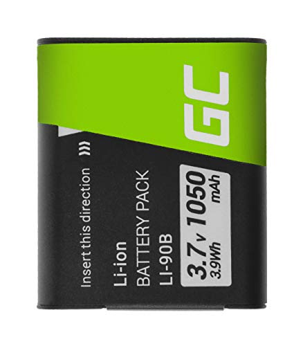 Green Cell® Li-90B Li-92B Batería para Olympus Tough TG-1 TG-2 TG-3 TG-4 TG-5 VoiSquare Stylus SH SP Cámara, Full Decoded (1050mAh 3.7V)