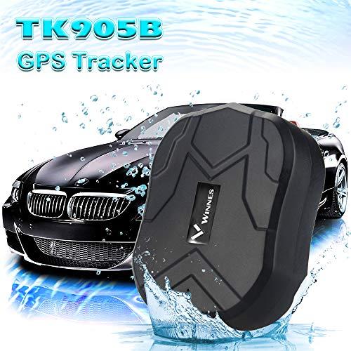 Hangang GPS Tracker GPS para Coche Impermeable/gsm/gprs Tracking 150 Días Standby GPS Tracker Tracker Mini Magnético para Coche Oculta para Protección antirrobo del vehículo y Niños/Mayores/Personal