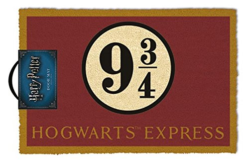 Harry Potter Felpudo Hogwarts Express, Fibra de Coco, Multicolor, 40 x 60 cm