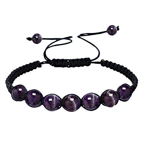 HARRYSTORE 7 Chakras Pulsera Ajustables Yoga Jade ágata Kundalini Mujer terapias magneticas, curación energética (B)