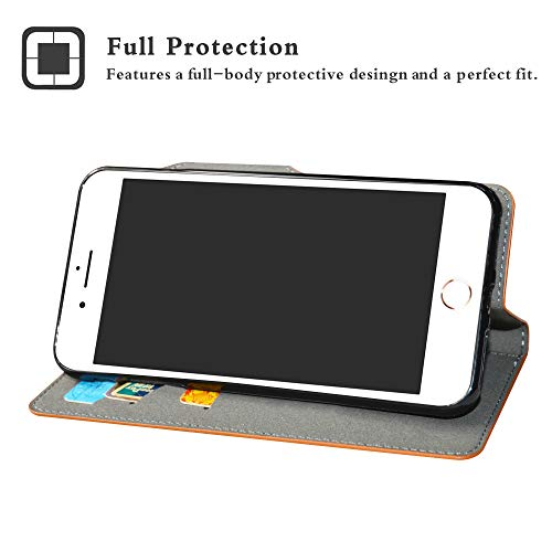 HHDY Apple iPhone 7 Plus Funda, Diseño PU Cuero Libro Soporte Plegable y Ranuras para Tarjetas Dibujos Caso Cover para Apple iPhone 7 Plus/iPhone 8 Plus,Don't Touch