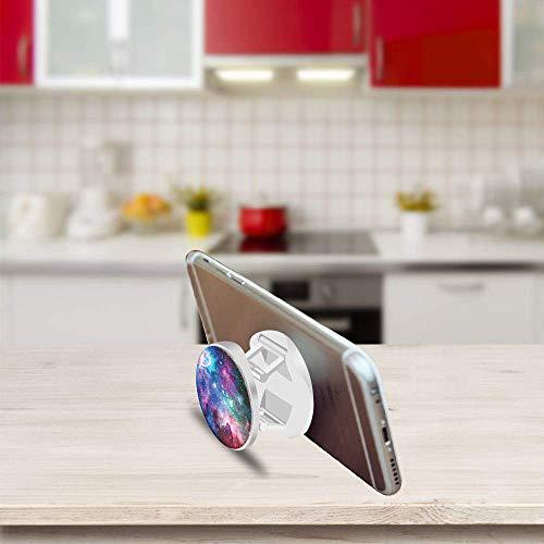 Jieyongxiang Soporte telescópico Plegable para teléfonos móviles, Soporte y Agarre para Teléfonos Móviles y Tabletas - Blue Nebula