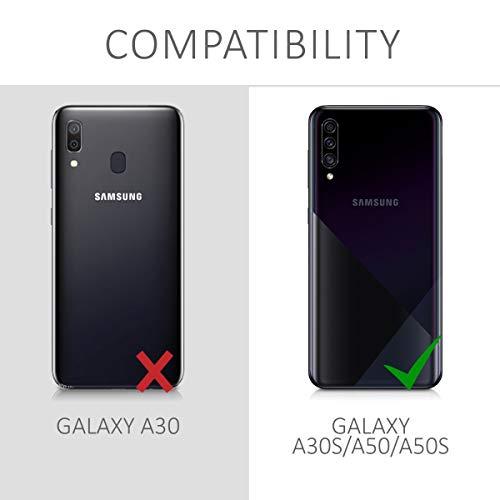 kwmobile Funda Compatible con Samsung Galaxy A30s - Carcasa de TPU Don't Touch my Phone en Blanco/Negro