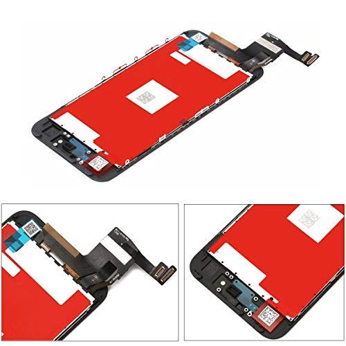 LanSupp Pantalla para iPhone 7 Plus Táctil LCD Pantalla Reemplazo Ensamblaje de Marco Digitalizador con Herramientas de Reparación(Negro)