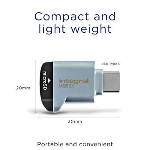Lector de Tarjetas Micro SD Integral USB2.0/USB C Tipo-C Adaptador de Tarjeta de Memoria OTG para Micro SD, microSDHC, microSDXC