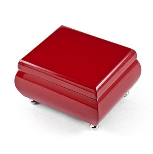 Magnífico joyero musical veneciano de color rojo con más de 400 canciones, madera, 133. Getting to Know You