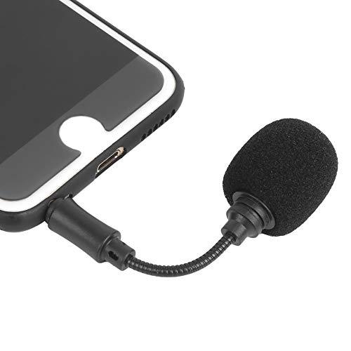 Mini micrófono de condensador portátil de 3,5 mm, micrófono de grabación con clip de solapa para teléfono móvil/PC/ordenador portátil