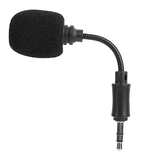 Mini micrófono, mini portátil 3.5mm condensador grabación micrófono para teléfono móvil/PC/ordenador portátil