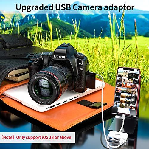 MPIO Adaptador Iluminación a HDMI, OTG 4 en 1 con 2 USB,Adaptador HDMI de Sincronización de Pantalla para iPhone/iPad a TV, Monitor, Proyector para iPhone 11/11 Pro/XR/X /8/7/6s/6/5, iPad Mini/Air/Pro
