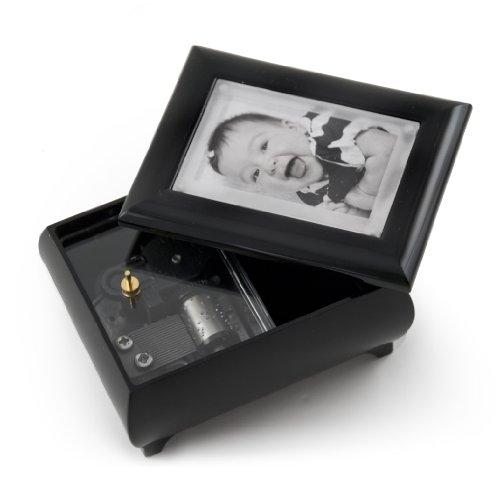 MusicBoxAttic Marco de Fotos de 7,6 x 5 cm, Color Negro Mate, con Sistema de Lente Pop-out, Madera, 133. Getting to Know You