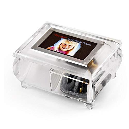 MusicBoxAttic Marco de Fotos Transparente de 7,6 x 5 cm con Sistema de Lente desplegable – más de 400 Opciones de Canciones, Resina, 133. Getting to Know You