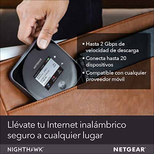 NETGEAR MR2100 - Router 4G SIM, Nighthawk con Velocidad hasta 2 Gbps, Conecta hasta 20 Dispositivos WiFi, wifi Portatil 4G con Cualquier SIM