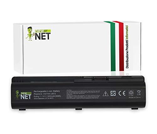 New Net - Batería de 5200 mAh Compatible con portátiles HP Pavilion DV6-2160EQ DV6-2160ER DV6-2160ES DV6-2160ET DV6-2160EZ DV6-2162 DV6-2162EZ DV6-2162NR DV6-2162SL DV6-2163DV6-2163SL
