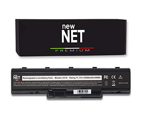 New Net Premium - Batería AS07A41 compatible con Acer Aspire 5738G 5738PG 5738PZG 5738Z 5738ZG 5740 5740D 5740D 3D 5740DG MS2219 MS2220 MS2253 MS26444 Celdas altas. Calidad: