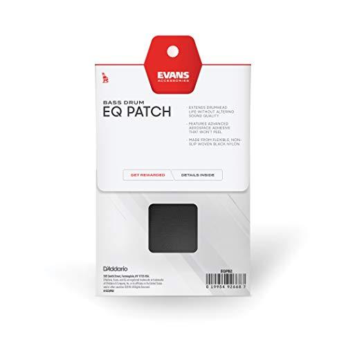 Parche doble para pedal EQ de Evans, nailon negro (EQPB2)