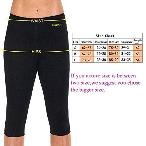 Progoco Pantalones Cortos Suana Deportivos Mujer de Neopreno Sauna Pants para Sudoración,Quema Grasa,Adelgazante Talla M