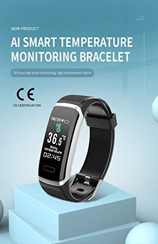 Pulsera De Actividad, Pulsera De Actividad Inteligente, IP67, Termómetro, Con Monitor De Frecuencia Cardíaca, Presión Arterial, Monitor De Sueño, Podómetro, Reloj Inteligente Para Mujeres Y Hombres